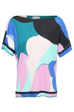 EMILIO PUCCI Printed jersey T-shirt