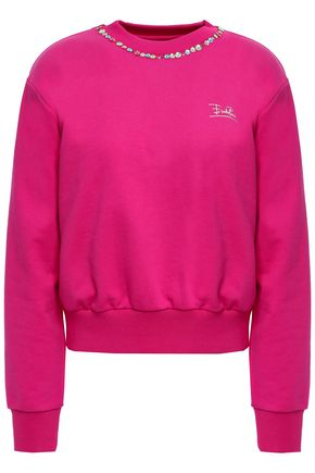 EMILIO PUCCI Appliquéd French cotton-terry sweatshirt