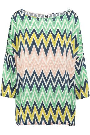 M MISSONI Printed satin-crepe top