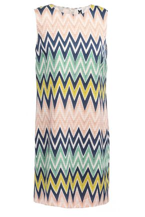 M MISSONI Printed crepe de chine mini dress