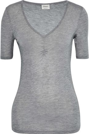 CHARLI Martine ruched stretch-jersey T-shirt
