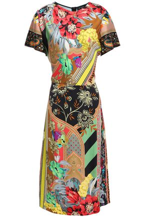 ETRO Printed satin-crepe dress