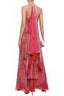ETRO Draped embellished printed silk-georgette gown