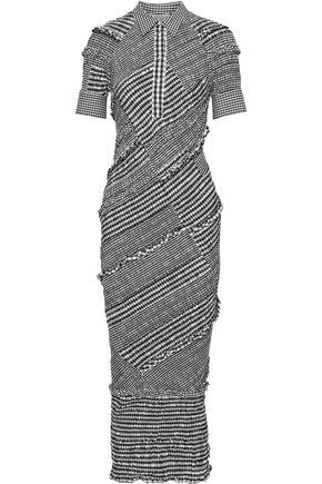 3.1 PHILLIP LIM Shirred cotton-blend poplin midi shirt dress