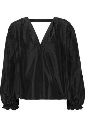 3.1 PHILLIP LIM Cutout silk-taffeta blouse
