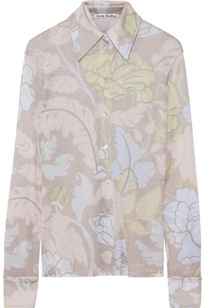 ACNE STUDIOS Printed metallic woven shirt