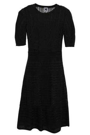 M MISSONI Flared crochet-knit cotton-blend mini dress