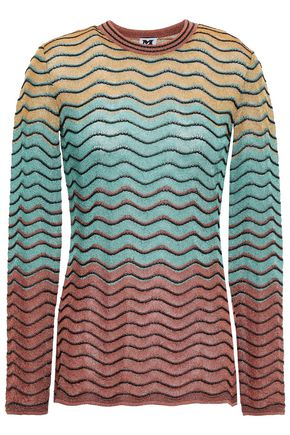 M MISSONI Metallic ombré crochet-knit top