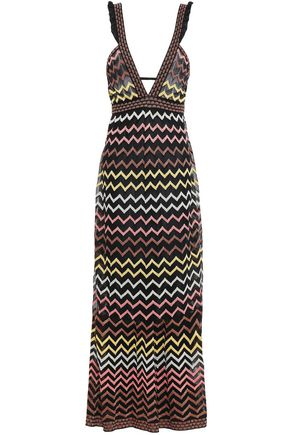 M MISSONI Cutout crochet-knit maxi dress