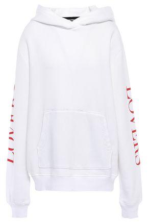 AMIRI Oversized printed cotton-fleece hoodie