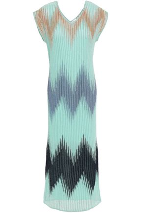 M MISSONI Metallic ribbed-knit midi dress