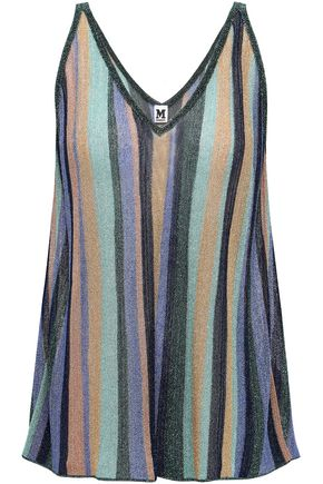 M MISSONI Metallic striped knitted tank