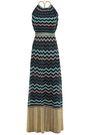 M MISSONI Open-back metallic crochet-knit maxi dress