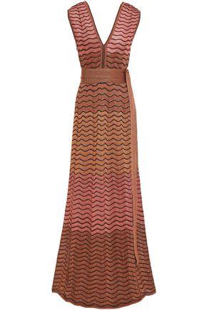 M MISSONI Belted crochet-knit maxi dress