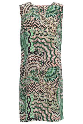 M MISSONI Printed silk-satin mini dress