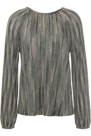 M MISSONI Metallic crochet-knit blouse