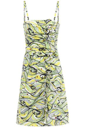 M MISSONI Printed stretch-cotton mini dress