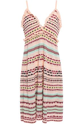 M MISSONI Ruffle-trimmed jacquard-knit dress