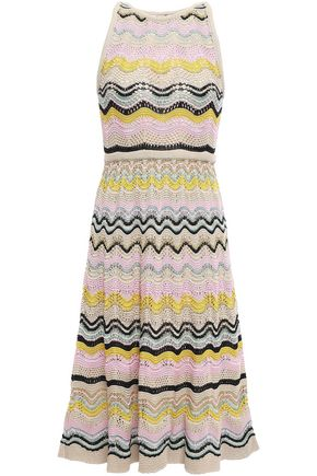 M MISSONI Metallic crochet cotton-blend dress