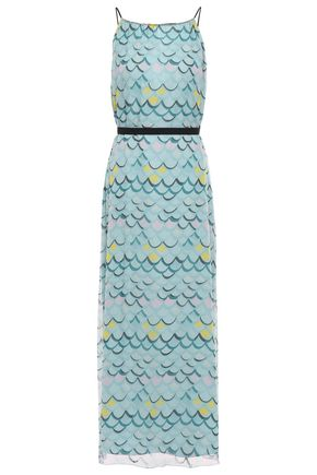 M MISSONI Crinkled silk-georgette maxi dress