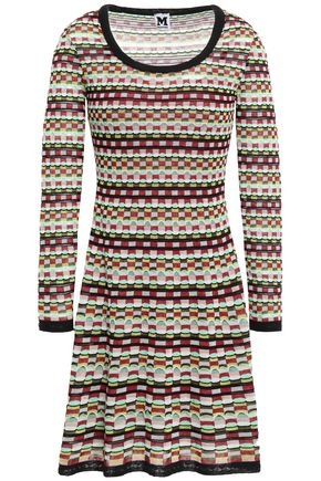 M MISSONI Cotton-blend jacquard mini dress