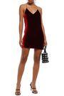 AMIRI Open-back chain-embellished stretch-velvet mini dress