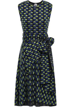 M MISSONI Belted flared jacquard-knit dress