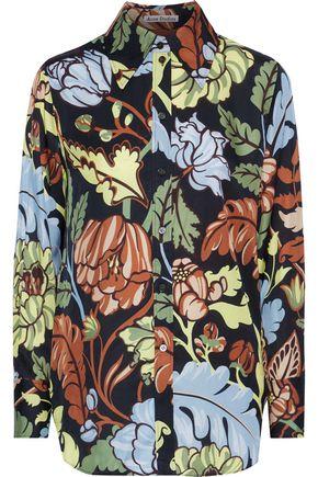 ACNE STUDIOS Printed twill shirt