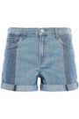J BRAND Two-tone denim shorts