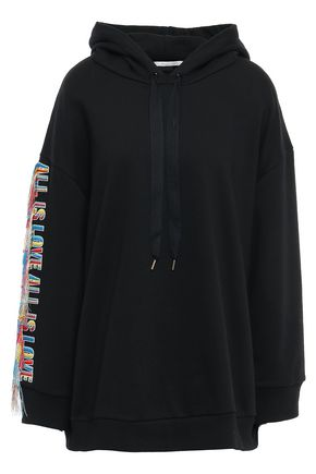 STELLA McCARTNEY Embroidered French cotton-terry hoodie