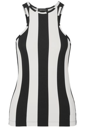GOLDSIGN Striped ribbed jersey tank