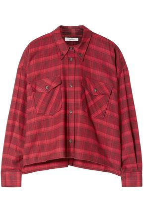 ISABEL MARANT ÉTOILE Checked cotton-flannel shirt