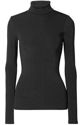 GOLDSIGN Ribbed cotton-blend jersey turtleneck top