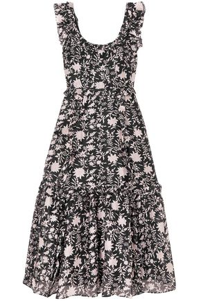 ULLA JOHNSON Floral-print cotton and silk-blend maxi dress