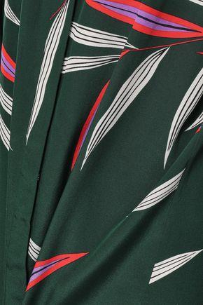 DIANE VON FURSTENBERG Belted printed silk mini dress