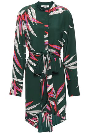 DIANE VON FURSTENBERG Belted printed silk dress