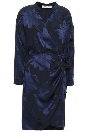 DIANE VON FURSTENBERG Wrap-effect jacquard mini dress