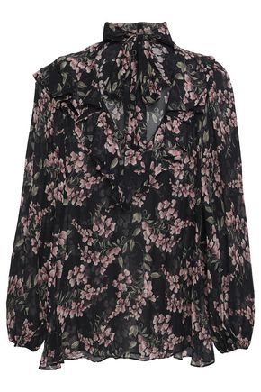ZIMMERMANN Pussy-bow floral-print georgette blouse