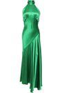 DE LA VALI Vivienne asymmetric silk-satin midi dress