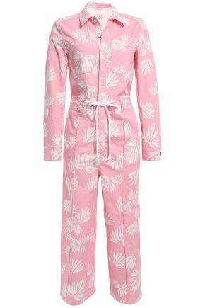 CINQ À SEPT Tous Les Jours Jubilee cotton-blend twill jumpsuit