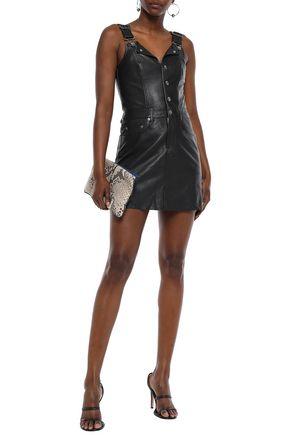 KSUBI Embroidered leather mini dress