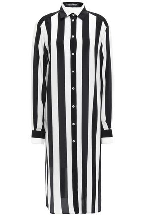 DOLCE & GABBANA Striped silk crepe de chine shirt dress