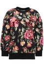 DOLCE & GABBANA Embellished floral-print cotton-blend fleece sweatshirt