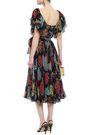 DOLCE & GABBANA Ruffle-trimmed printed silk-chiffon midi dress