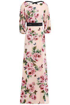 DOLCE & GABBANA Floral-print velvet maxi dress
