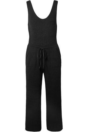 ELEVEN SIX Yossy ribbed Pima cotton-blend jumpsuit