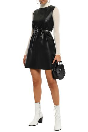 MUUBAA Leather mini dress