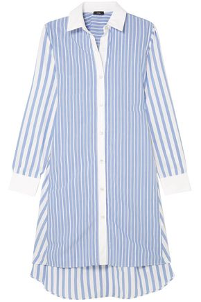 CLU Belted striped cotton shirt dress