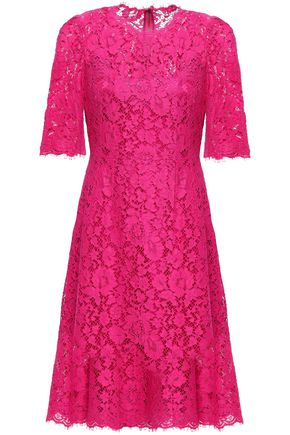 DOLCE & GABBANA Flared corded lace dress