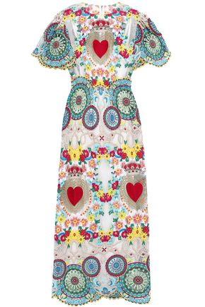 DOLCE & GABBANA Embroidered guipure lace and tulle maxi dress